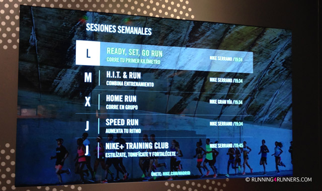 Nike+ Run Club entrenamientos