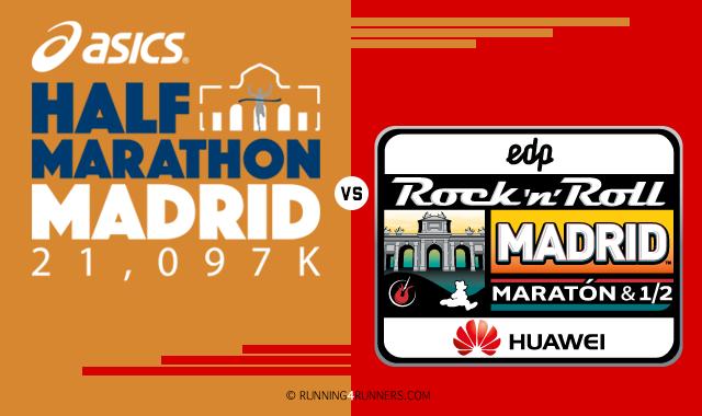 Comparativa de los 2 principales medios maratones de Madrid: Half Marathon vs RnR Madrid Maratón 1/2