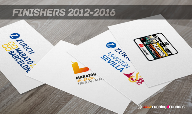 Finishers maratones 2012-2016